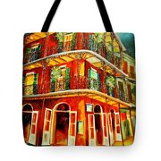 French Quarter Corner Tote Bag