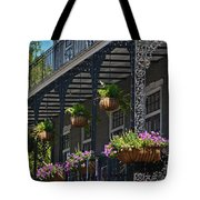 French Quarter Sunlit Balcony - New Orleans Tote Bag
