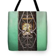 French Quarter Window To The Courtyard Tote Bag