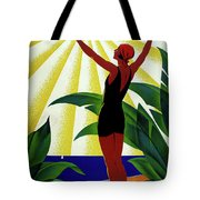 French Riviera, Girl On The Beach, France Tote Bag