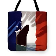 French Shipping Line Poster Tote Bag