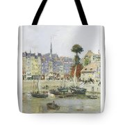 French View Of Honfleur Tote Bag