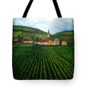 French Village In The Vineyards Tote Bag