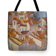 French Villlage Painting Tote Bag