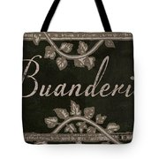 French Vintage Laundry Sign Tote Bag