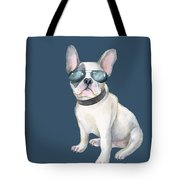 Frenchie French Bulldog Aviators Dogs In Clothes Tote Bag