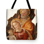 Fresco Holy Family Tote Bag