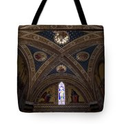 Frescoes Inside The Church At Brolio Tote Bag