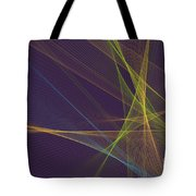 Fresh Computer Graphic Line Pattern Tote Bag