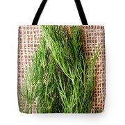 Fresh Green Dill On Jute Bag Tote Bag