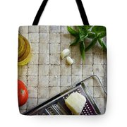 Fresh Italian Cooking Ingredients Tote Bag