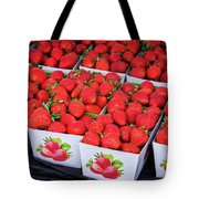 Fresh Picked Strawberries Tote Bag