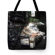 Fresh Produce In A Dark Alley Tote Bag
