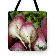 Fresh Radish Harvest. Tote Bag