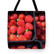 Fresh Ripe Strawberries In Plastic Boxes Tote Bag