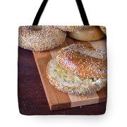 Fresh Sesame Bagel Tote Bag