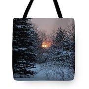 Fresh Snow At Sunrise Tote Bag