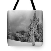 Fresh Snow On The Trees Tote Bag