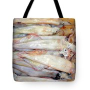 Fresh Squid On A Market Stall Tote Bag