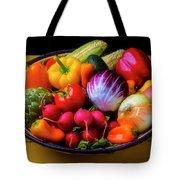 Fresh Vegetables In Lovely Basket Tote Bag