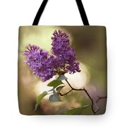 Fresh Violet Lilac Flowers Tote Bag
