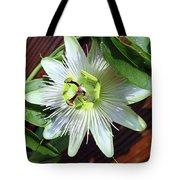 Fresh White Passion Flower  Tote Bag