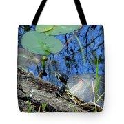 Freshwater Turtle Sunning Tote Bag