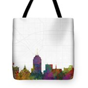 Fresno Cityscape And Streetmap Skyline Tote Bag