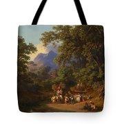 Frey  Johann Jakob 1813 Basel   1865 Frascati  Wedding Procession Of Italian Farmers Tote Bag