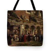 Friday At The Colosseum In Rome Amerigo Y Aparici  Francisco Javier Tote Bag