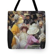 Friday At The French Artists Salon Tote Bag by Jules Alexandre Grun