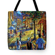 Friday Night Walk Prankearts Fine Arts Tote Bag