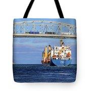 Frieda And Blue Water Bridge Tote Bag