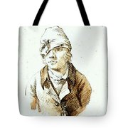 Friedrich Caspar David Self Portrait With Cap And Sighting Eye Shield Tote Bag