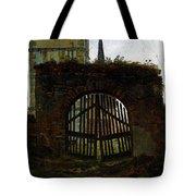 Friedrich Caspar David The Cemetery Gate Tote Bag