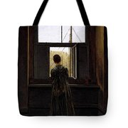 Friedrich Caspar David Woman At A Window Tote Bag
