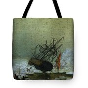 Friedrich Caspar David Wreck By The Sea Tote Bag