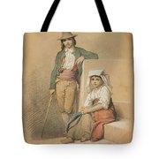Friedrich Gonne  Two Italian Youths Tote Bag