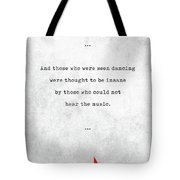 Friedrich Nietzsche Quotes - Literary Quotes - Book Lover Gifts - Typewriter Quotes Tote Bag