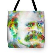 Friedrich Nietzsche - Watercolor Portrait.10 Tote Bag