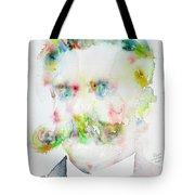 Friedrich Nietzsche - Watercolor Portrait.7 Tote Bag