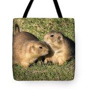 Friendly Prairie Dogs Tote Bag