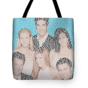 Friends Episode Mosaic Tote Bag