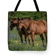Friends In The Bluebonnets Tote Bag