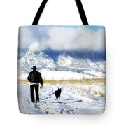 Friends On A Walk Tote Bag