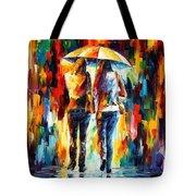 Friends Under The Rain Tote Bag