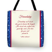 Friendship Poem Tote Bag