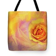 Friendship Rose Textured Tote Bag