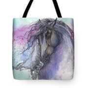 Friesian Horse 2015 12 24 Tote Bag