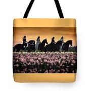 Friesians At Sunset Tote Bag